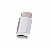 Cortrea Micro USB Giri�ini USB Type-C Giri�e D�n��t�r�c� Adapt�r Silver