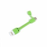 Cortrea Micro USB Yeşil Kısa Data Kablosu 9cm