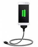 Cortrea Micro USB Stand Özellikli Metal Data Kablosu
