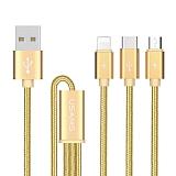 Cortrea Multiple Çoklu Gold Dayanıklı Şarj Kablosu 1m