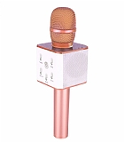 Cortrea Q7 Bluetooth Hoparlörlü Rose Gold Karaoke Mikrofon