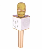 Cortrea Q7 Bluetooth Hoparlörlü Gold Karaoke Mikrofon