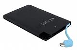 Cortrea Slim 3000 mAh Micro USB Dahili Kablolu Powerbank Siyah Yedek Batarya