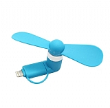 Cortrea Universal Lightning & Micro USB Mavi Mini Fan