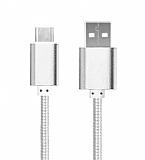 Cortrea USB Type-C K�sa Dayanakl� Silver Data Kablosu