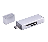 Cortrea USB Type-C ve Micro USB Silver Kart Okuyucu