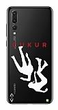 Çukur Lisanslı Huawei P20 Pro Beyaz Düşüş Logo Kılıf