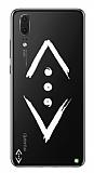 Çukur Lisanslı Huawei P20 Beyaz Çukur Logo Kılıf