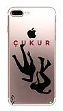 Çukur Lisanslı iPhone 7 Plus / 8 Plus Siyah Düşüş Logo Kılıf