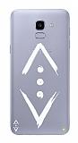 Çukur Lisanslı Samsung Galaxy J6 Beyaz Çukur Logo Kılıf
