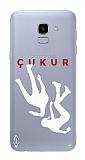 Çukur Lisanslı Samsung Galaxy J6 Beyaz Düşüş Logo Kılıf