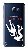 Çukur Lisanslı Samsung Galaxy Note 5 Beyaz Düşüş Logo Kılıf