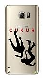 Çukur Lisanslı Samsung Galaxy Note 5 Siyah Düşüş Logo Kılıf