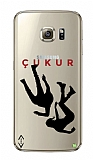 Çukur Lisanslı Samsung Galaxy S7 Edge Siyah Düşüş Logo Kılıf