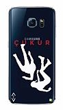 Çukur Lisanslı Samsung Galaxy S7 Edge Beyaz Düşüş Logo Kılıf