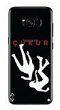 Çukur Lisanslı Samsung Galaxy S8 Beyaz Düşüş Logo Kılıf