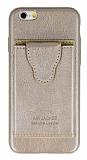 Dafoni Air Jacket iPhone 6 / 6S Cüzdanlı Gold Deri Kılıf