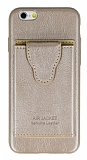 Dafoni Air Jacket iPhone 6 Plus / 6S Plus Cüzdanlı Gold Deri Kılıf