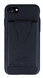 Dafoni Air Jacket iPhone 7 / 8 Cüzdanlı Siyah Deri Kılıf
