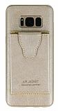 Dafoni Air Jacket Samsung Galaxy S8 Cüzdanlı Gold Deri Kılıf