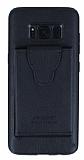 Dafoni Air Jacket Samsung Galaxy S8 Plus Cüzdanlı Siyah Deri Kılıf