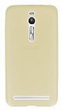 Dafoni Air Slim Asus ZenFone 2 Ultra İnce Mat Gold Silikon Kılıf