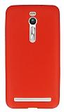Dafoni Air Slim Asus ZenFone 2 Ultra İnce Mat Kırmızı Silikon Kılıf