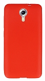 Dafoni Air Slim General Mobile Android One / General Mobile GM 5 Ultra İnce Mat Kırmızı Silikon Kılıf