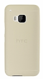Dafoni Air Slim HTC One M9 Ultra İnce Mat Gold Silikon Kılıf