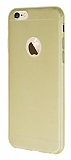 Dafoni Air Slim iPhone 6 Plus / 6S Plus Ultra �nce Mat Gold Silikon K�l�f