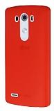 Dafoni Air Slim LG G3 Ultra İnce Mat Kırmızı Silikon Kılıf