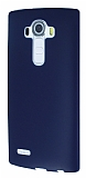 Dafoni Air Slim LG G4 Ultra İnce Mat Lacivert Silikon Kılıf