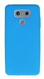 Dafoni Air Slim LG G6 Ultra İnce Mat Mavi Silikon Kılıf