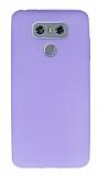 Dafoni Air Slim LG G6 Ultra İnce Mat Mor Silikon Kılıf