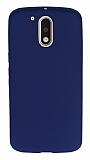 Dafoni Air Slim Motorola Moto G4 / G4 Plus Ultra İnce Mat Lacivert Silikon Kılıf