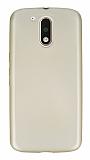 Dafoni Air Slim Motorola Moto G4 / G4 Plus Ultra İnce Mat Gold Silikon Kılıf