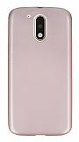 Dafoni Air Slim Motorola Moto G4 / G4 Plus Ultra İnce Mat Rose Gold Silikon Kılıf