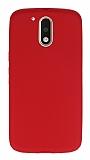 Motorola Moto G4 / G4 Plus Ultra İnce Mat Kırmızı Silikon Kılıf