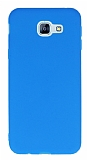 Samsung Galaxy A8 2016 Ultra İnce Mat Mavi Silikon Kılıf