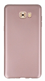 Samsung Galaxy C9 Pro Ultra İnce Mat Rose Gold Silikon Kılıf