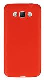Dafoni Air Slim Samsung Galaxy Grand Max Ultra İnce Mat Kırmızı Silikon Kılıf