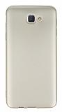 Dafoni Air Slim Samsung Galaxy J5 Prime Ultra İnce Mat Gold Silikon Kılıf
