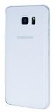 Dafoni Air Slim Samsung Galaxy Note 5 Ultra İnce Mat Şeffaf Beyaz Silikon Kılıf