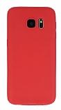 Dafoni Air Slim Samsung Galaxy S7 Ultra İnce Mat Kırmızı Silikon Kılıf