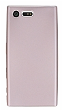 Dafoni Air Slim Sony Xperia X Compact Ultra İnce Mat Rose Gold Silikon Kılıf