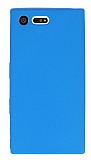 Dafoni Air Slim Sony Xperia X Compact Ultra İnce Mat Mavi Silikon Kılıf
