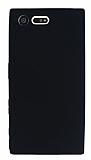 Dafoni Air Slim Sony Xperia X Compact Ultra İnce Mat Siyah Silikon Kılıf