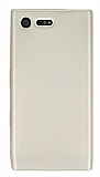 Dafoni Air Slim Sony Xperia X Compact Ultra İnce Mat Gold Silikon Kılıf