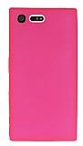 Dafoni Air Slim Sony Xperia X Compact Ultra İnce Mat Pembe Silikon Kılıf