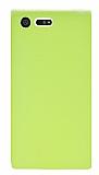 Dafoni Air Slim Sony Xperia X Compact Ultra İnce Mat Neon Sarı Silikon Kılıf